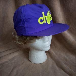 Vintage Purple Chili's Logo Snap Back Cap